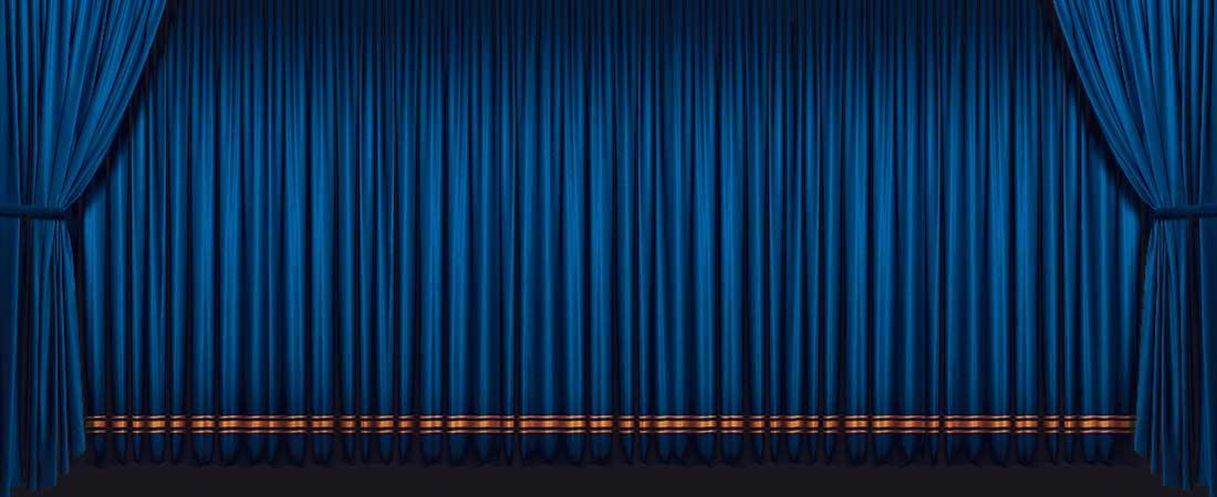 Blue-curtains